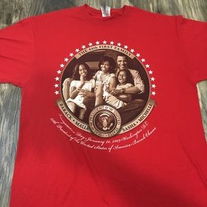Obama Family presidential red shirt size XL